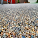 Permeable Resin Bound Paving in Aber Village 5