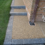 Permeable Resin Bound Paving in Aber Village 9