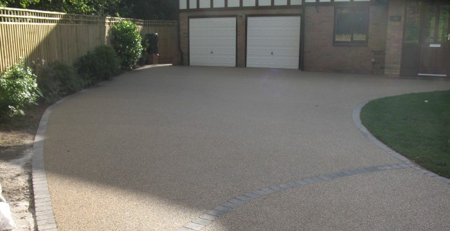 Permeable Gravel Flooring in Aber Village
