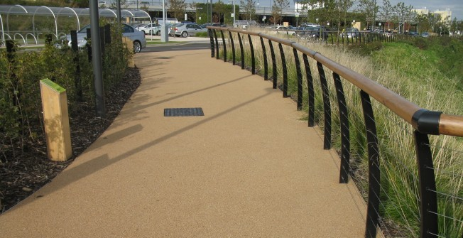 Resin Bound Gravel Surface in Aberfan