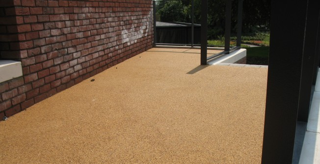 Permeable Resin Bound Paving in Aberdesach